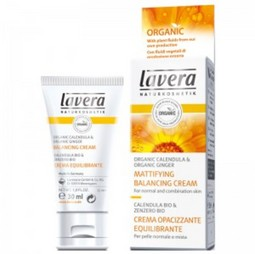 Crema bio matifianta si hidratanta pentru ten normal/mixt cu galbenele si ghimbir, 30 ml, Lavera