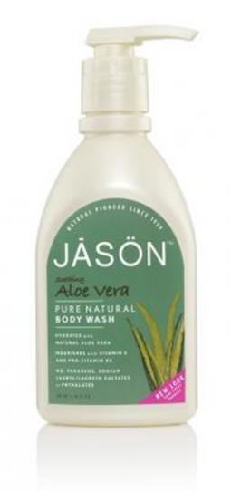Sapun lichid pentru fata si maini cu aloe vera, 480 ml., Jason