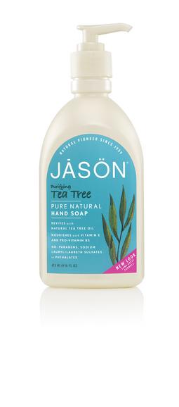 Sapun lichid antibacterian pentru fata si maini cu Tea Tree, 480 ml., Jason