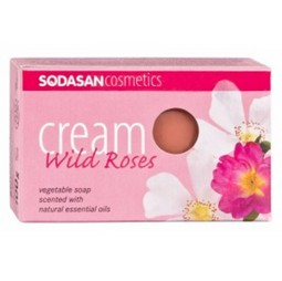Sapun Crema Bio Trandafir Salbatic 100 Gr Sodasan