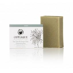 Sapun solid organic cu tea tree si argila verde, anti bacterian Odylique by Essential Care 100g