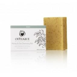 Sapun organic exfoliant cu miere si ovaz pentru fata si corp Odylique by Essential Care 100g