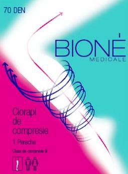 Ciorapi de compresie contra varicelor BIONE clasa III 20-26 mm Hg (terapeutic)
